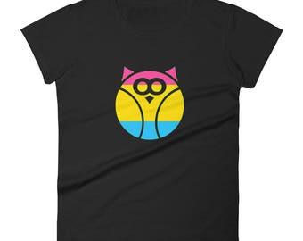 Pansexual Pride Owl Women's short sleeve t-shirt  lgbtq lgbt lgbtqipa queer gay transgender mogai