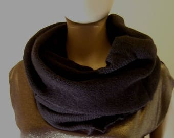 The tube cowl hood 70 cm in beautiful black Merino yarn