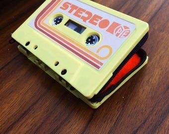 70's retro vintage cassette tape purse