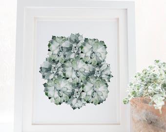 Abstract wall art, Geometric Wall art, Cactus print,Abstract, Large wall art, Modern art, Wall decor, Minimalist art, Wall art print, Modern