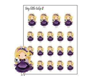 Planner Stickers Halloween Princess 5