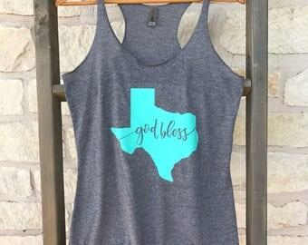 God Bless Texas Tank Top