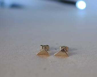 Silver earrings - triangle - KkumArt