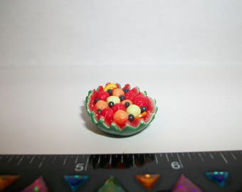 Dollhouse Miniature Handcrafted Watermelon Fruit Bowl Dessert Doll House Food 1230
