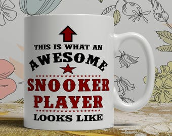 Awesome snooker player mug snooker player gift mug snooker coffee mug snooker gift idea snooker player mug funny snooker mug E1408 snooker