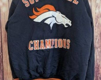 Vintage Denver Broncos Superbowl 97 98 NFL football bomber varsity Mens G-III XXL jacket