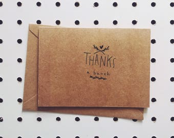 "Greeting card ""Thanks a bunch"""