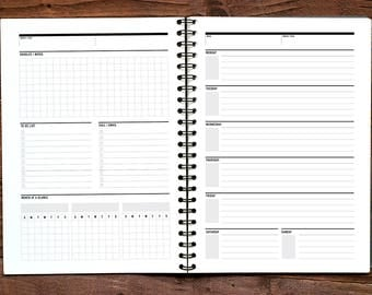 Weekly Agenda, Student Agenda, Perpetual Calendar, Student Planner, Study Planner, weekly schedule, week at a glance, weekly to do list