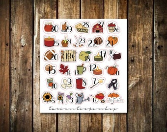 Fall Countdown - Functional Stickers - Fits Any Planner