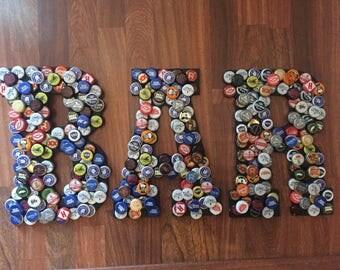 BAR 12 Inch Bottle Cap Letters