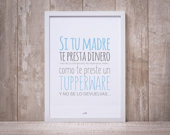 TUPPERWARE blade, funny breast blade, decoration blade, pretty sheet, inspiring phrase, decorated frame, anniversary gift, Gift