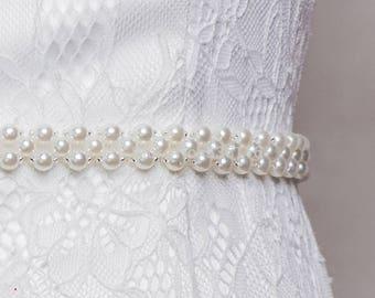 High Quality Custom Bridal Sash/Belt Pearl