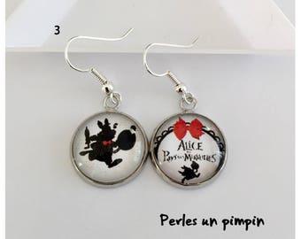 Earrings Alice in Wonderland 3 countries