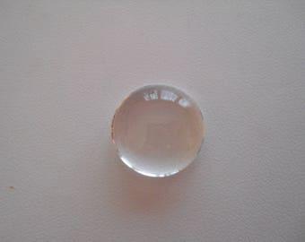 Glass cabochon 18 mm diameter