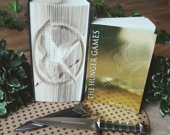 Mockingjay Symbol Cut and Fold book folding pattern