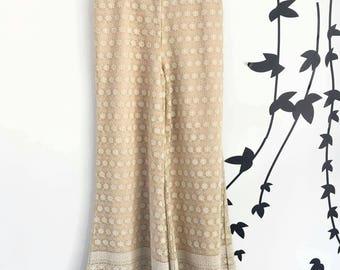 Georgious machine embroidered chiffon plazzo pant - Small Size 36