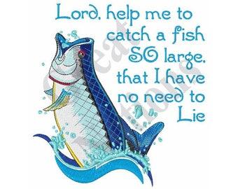 Fishing Prayer - Machine Embroidery Design