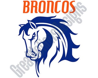 Broncos SVG - HTV - Vinyl Cutting Graphic Art
