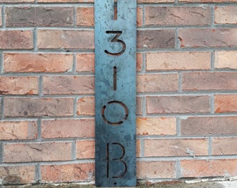 Metal Address Sign - Vertical Address Sign, House Numbers