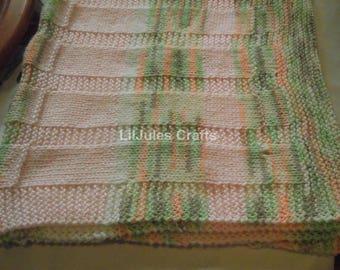 Striped Knit Blanket