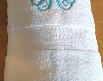 VINE MONOGRAM Bath Towel, College Decor, Room Decor