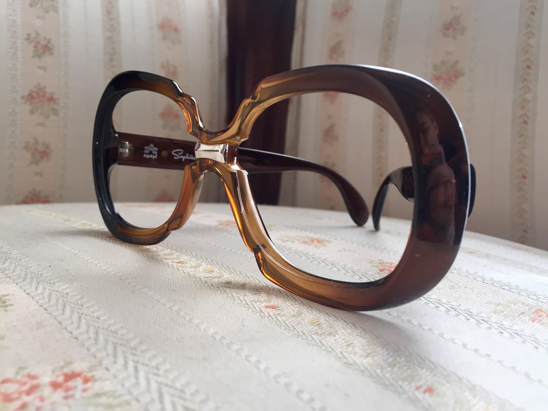 2e878481a23 Vintage 70 s Brown Saphira Optyl Glasses Frames  E10190947032086635M ...