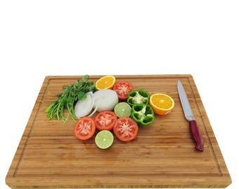 "Bamboo Cutting Board - 24"" x 18"" x 1.5"""