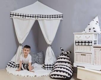 Teepee , kids playroom, wall canopy , kids room , nursery decor , play tent, playhouse , reading area , playing area , awning , play canopy