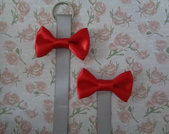 Cloud Grey and Red Bow Display