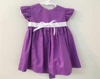 Adorable Mauve Dress for a Sweet Little Girl - Size 3-6 months, Easter Dress, Birthday Dress, Baby Dress, Special Occasion Dress