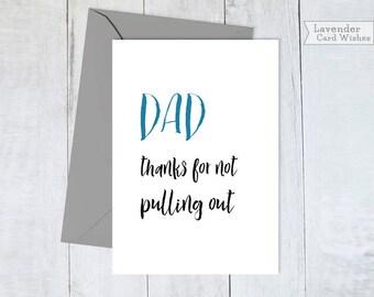 Funny fathers day card Dad birthday card Fathers day gift Funny card for dad Printable card Fathers gift Digital Card for daddy Card for dad