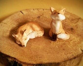 Fox, sleeping fox, sitting fox, mythical, nature, woodland creatures, orange, autumn, spring, home decor, wise