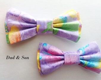 Bow Tie, Dad and Son Bow Ties, Lavender Bow Tie, Mens Bow Tie, Bowtie, Father Son Bow Ties, Groomsmen Bow Tie, Bowtie, Boys Bow Tie  DS730