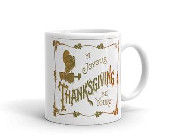 joyous unique coffee mug. A Joyous Thanksgiving Be Yours Mug mug  Etsy