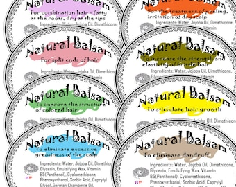 Botanical Hair Balms for Different Types Of Hair 4 oz.Sculpts, smoothes and shines.