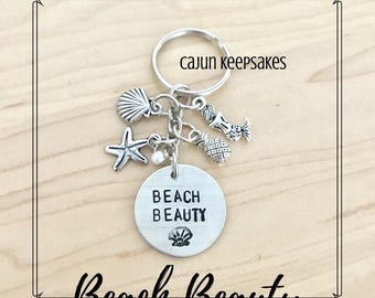 Summer Dangle Keychains | Hand Stamped Jewelry | Personalized