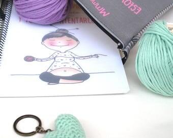 Knitting the new yoga, Crochet notebook, weavers notebook, notebook for weavers, crochet present,Crochet Gift, Knitting Gift, weavers gift,