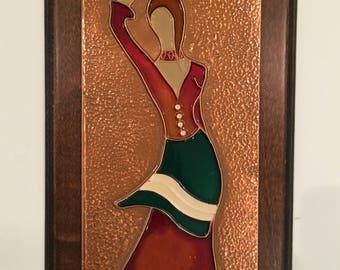Vintage Copper Plaque | Hand Made