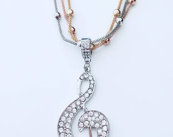 Musical Note Statement Necklace