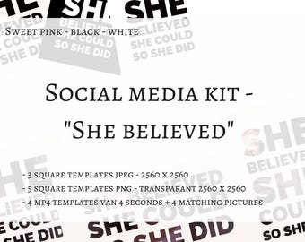"""Stash """"She believed"""" qoute templates"""