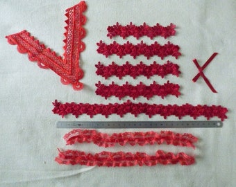 SET OF VARIOUS OCCASION RED LACE