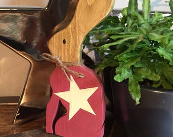 Wooden Easter Rabbit / Hare with star design