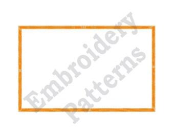 Heavy Line Rectangle - Machine Embroidery Design