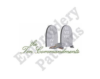 The Ten Commandments - Machine Embroidery Design