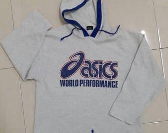 vintage ASICS world performance hoodie