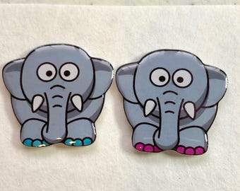 Elephant Xray Markers Custominzed with Initials