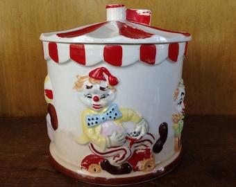 Vintage Tilso Circus Cookie Jar