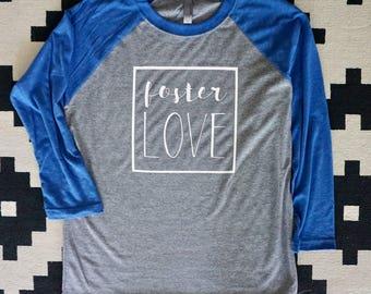 foster love adult raglan