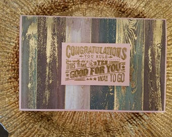 Congratulations, Unique Greeting Cards, Handmade Cards, ReynoldsGrahamDesign, A9 Cards, Pink Card