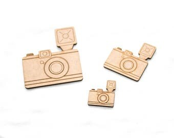 Camera lomo - 3 Wooden pieces to decorate or make any type of crafts.